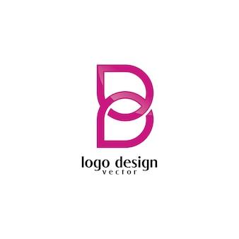 B symbol feminime logo design