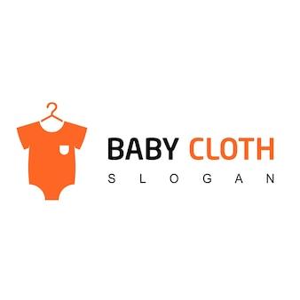 Modello di logo del negozio di vestiti per bambini