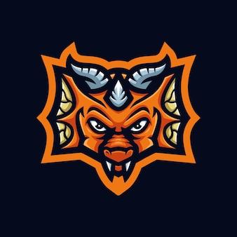Logo mascotte da gioco baby dragon per streamer e community di esports