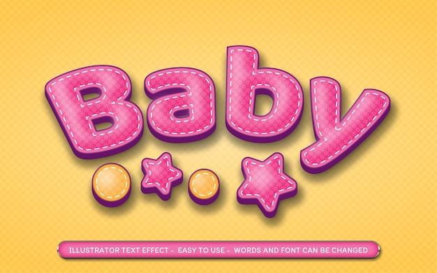 Baby - stile di effetto di testo modificabile