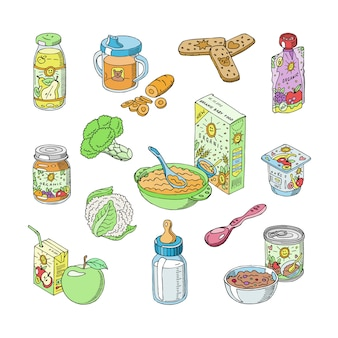 Alimentazione sana del bambino degli alimenti per bambini