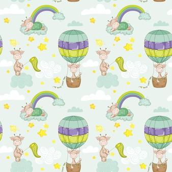 Sfondo di giraffa bambino