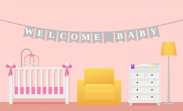 Baby room room interior,