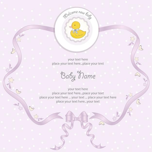 Carta dell'acquazzone della neonata