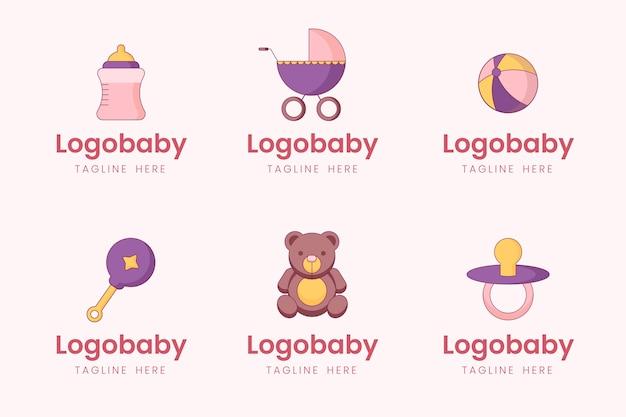 Collezione di logo del bambino