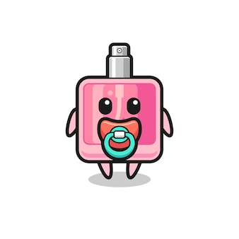 Personaggio dei cartoni animati di profumo per bambini con ciuccio, design in stile carino per maglietta, adesivo, elemento logo
