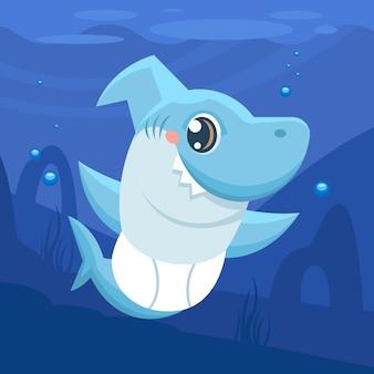 Illustrazione di squalo bambino