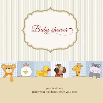 Scheda annuncio baby shower