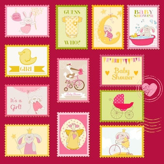 Baby shower o francobolli di arrivo