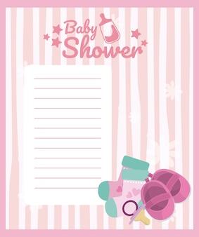 Carta vuota della doccia di bambino