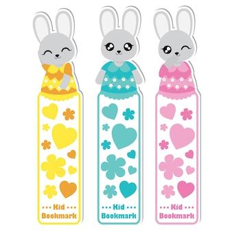 Raccolta di segnalibri doccia per neonati Vettore Premium