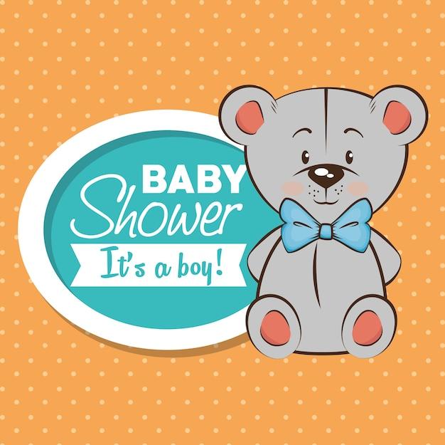 Scheda dell'invito del ragazzo dell'acquazzone di bambino