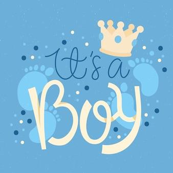 Baby doccia per ragazzo
