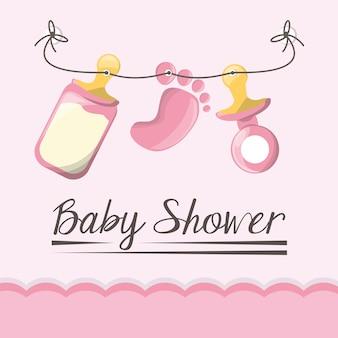 Carta di baby shower invito felice