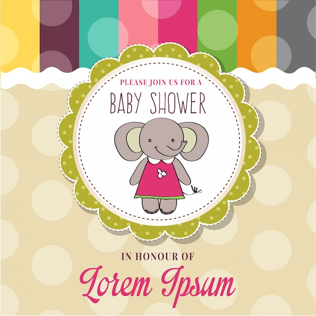 Baby shower card con simpatico topolino