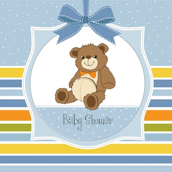 Baby shower card con simpatico orsacchiotto