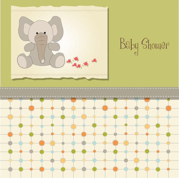 Baby shower card con elefante