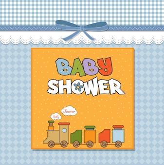 Baby shower card con trenino