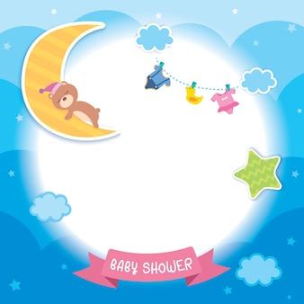 Baby shower nuvole