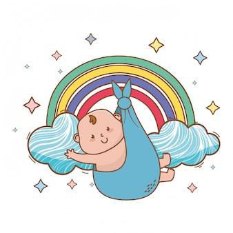Illustrazione sveglia della doccia di bambino bella