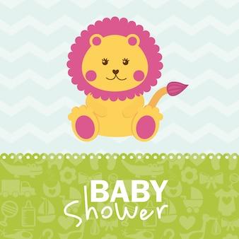 Disegno della doccia di bambino sopra l'illustrazione di vettore del fondo