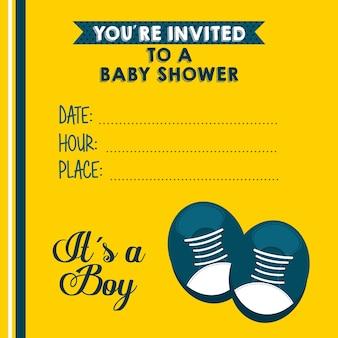 Progettazione della doccia di bambino, grafico dell'illustrazione eps10 di vettore