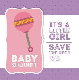 Design digitale baby shower