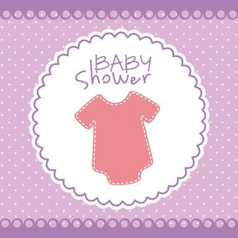 Illustrazione di vettore di disegno grafico della doccia di bambino