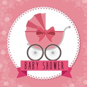 Biglietto di auguri baby doccia