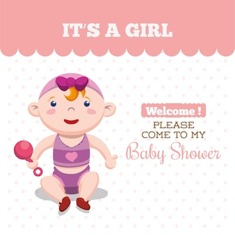Baby card design biglietto d'invito