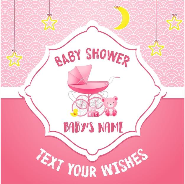 Modello di carta di invito baby doccia
