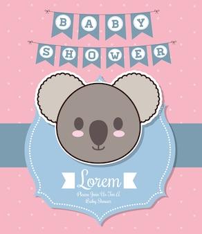 Design dell'invito baby shower