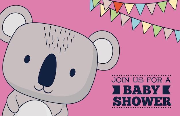 Disegno dell'invito della doccia di bambino