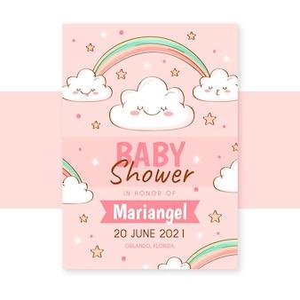 Modello di invito baby shower