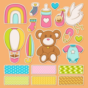 Baby shower con set scrapbook animali