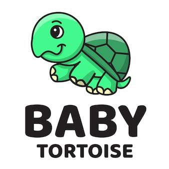 Baby tortoise logo carino