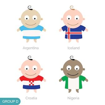 Baby world football, funny cartoon