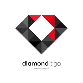 Design del logo sul retro del diamante
