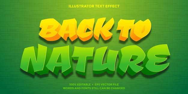Torna a testo effetto natura di colore arancione e verde
