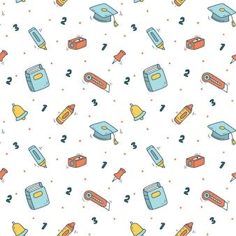 Torna a scuola sfondo in stile doodle