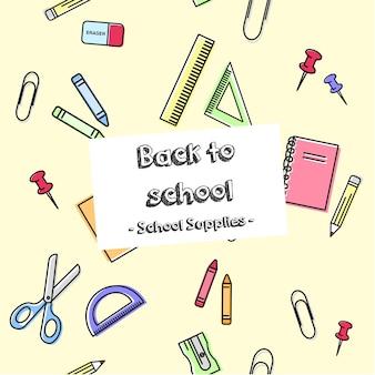 Ritorno a scuola pattern di sfondo