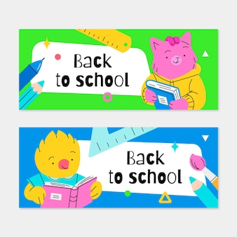 Set di striscioni per il ritorno a scuola