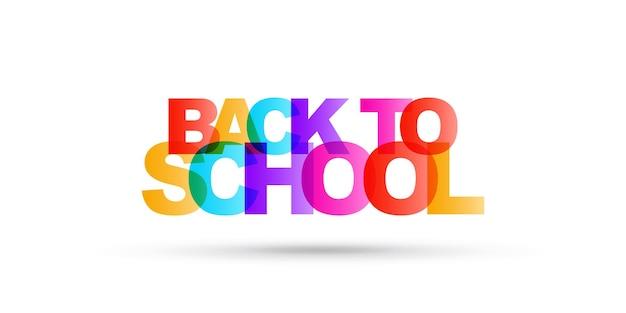 Ritorno a scuola con lettere luminose semplici illustrazione