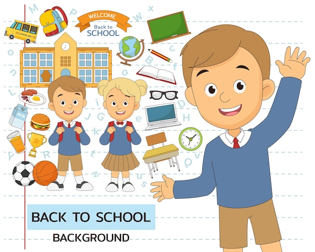 Torna alle icone piane del concetto di scuola