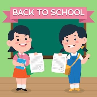 Ritorno a scuola simpatico personaggio