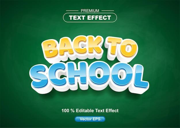 Torna a scuola modificabile effetto di testo