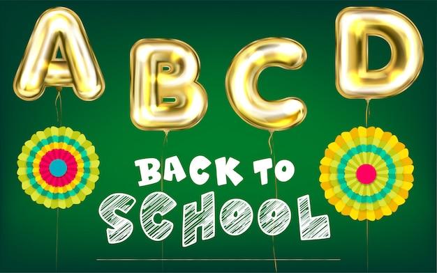 Ritorno a scuola manifesto verde