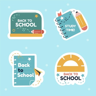 Ritorno alla collezione di etichette per la scuola