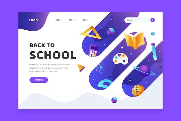 Torna al modello web della pagina di destinazione della scuola