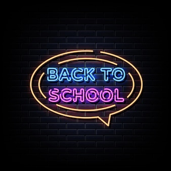 Torna a scuola insegna al neon